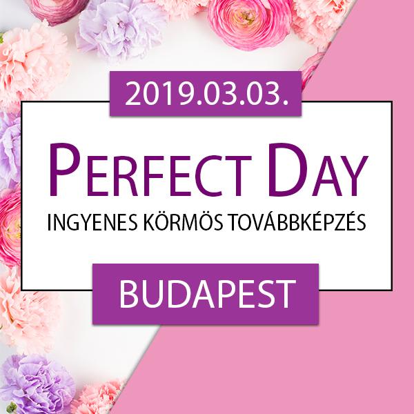 Ingyenes körmös továbbképzés – Perfect Day – Budapest, 2019.03.03.